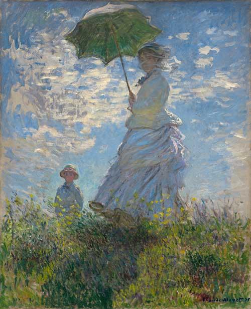 Monet - Kvinna med parasoll